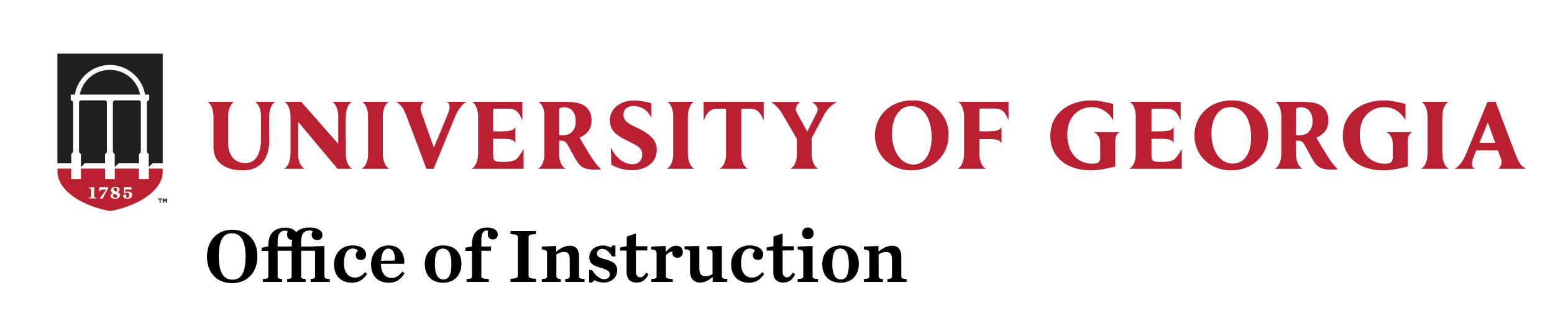Office of Instruction a the University of Georgia Logo